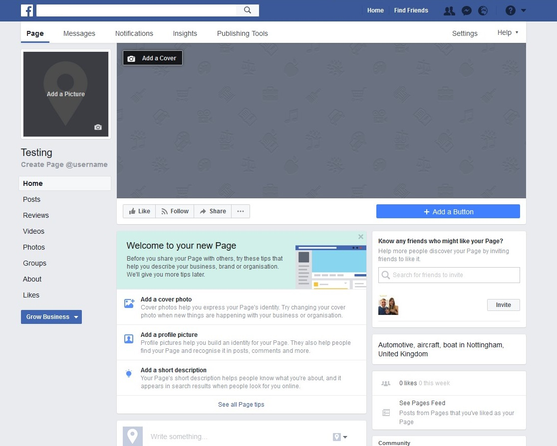 Blog outside agent link template for your facebook business page image source friedricerecipe Image collections